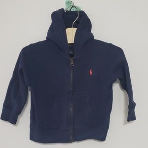 Boys Zip up Polo Hoodie